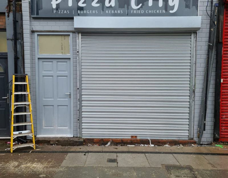 Roller shutter installation in Liverpool 1