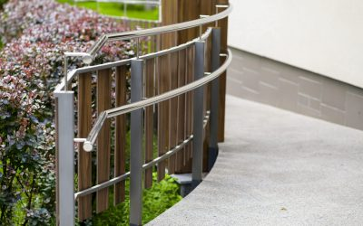 Iron Railings With Wooden Balusters At The Path In The Garden, I